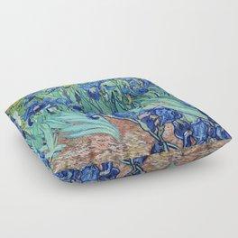 Famous art, Iris by Vincent van Gogh.   Floor Pillow