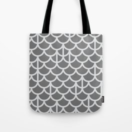 Strict Mermaid Scales Grey Tote Bag