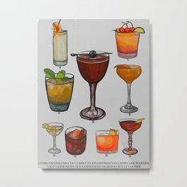 Classic Cocktails Metal Print