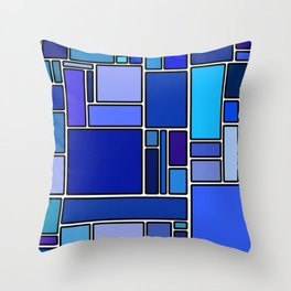 50 shades of blue Throw Pillow