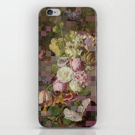 Vintage mosaic floral still life iPhone Skin