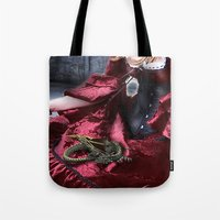 mother of dragons Tote Bags featuring mother of dragons by YattaGiulia