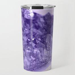Sparkling Raw Amethyst Travel Mug