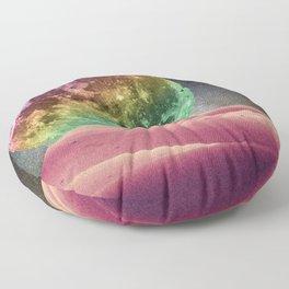Rainbow Moonset Floor Pillow