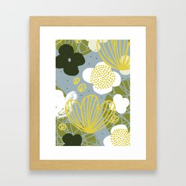 Kokedama Garden by Friztin Framed Art Print