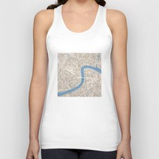 New Orleans Cobblestone Watercolor Map Unisex Tank Top