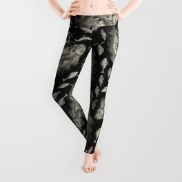 Wierd Fish and Unicorns Unite Leggings