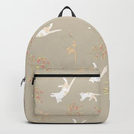 Cat Boy Taupe Backpack