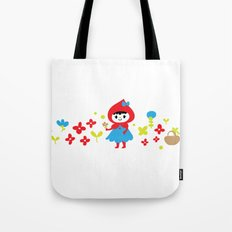 Red Riding Hood in the Forest Tote Bag