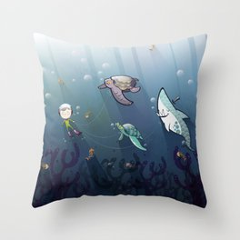 Looking for new friends Throw Pillow