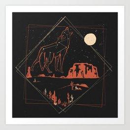Heaven's Wild Coyote Art Print