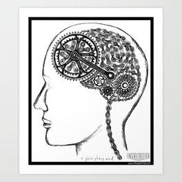 Bike Brain Art Print