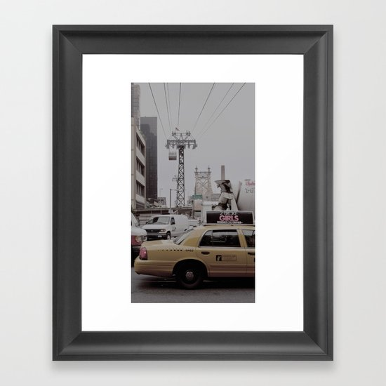 slow down, you move too fast... Framed Art Print