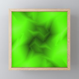 Bright lines of green funnels with a voluminous gap. Framed Mini Art Print