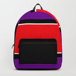 Team Colors 2...red ,purple, black and white Backpack