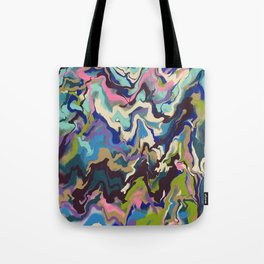 Techno Wave Tote Bag