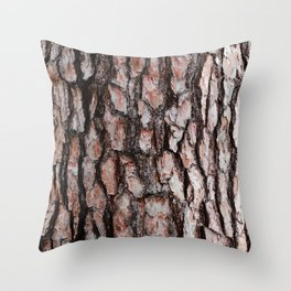 Pine Bark Throw Pillow