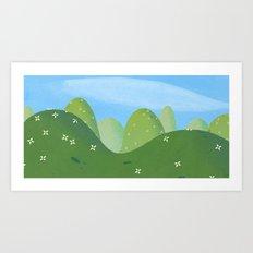 Rroling Hills Art Print