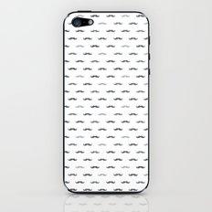 Grey Mustache iPhone & iPod Skin