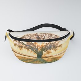 Weeping willow watercolor painting #9 Fanny Pack
