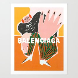 Balenciagga Mode Art Print