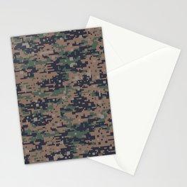 Marines Digital Camo Digicam Camouflage Military Uniform Pattern Stationery Cards