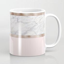 Strawberries and cream - grey marble & rose gold Coffee Mug
