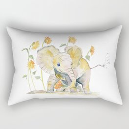 Baby Elephant 3 Rectangular Pillow