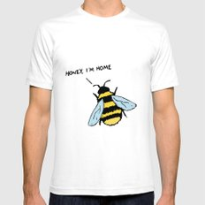 Honey I'm Home SMALL Mens Fitted Tee White