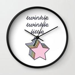 twinkle twinkle little star Wall Clock