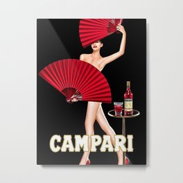 Vintage Bitter Campari Lithograph Advertisement Metal Print