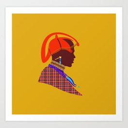 kenyan massai warrior artwork atalanta creatives design Art Print