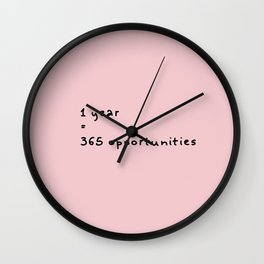 1 year=365 opportunities_bp Wall Clock