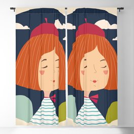 Girl happy Blackout Curtain
