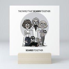 SCARY FAMILY Mini Art Print