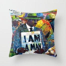 African American Atlanta Civil Rights Memorial Portrait No. 1 Throw Pillow