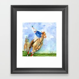Polo Player Framed Art Print