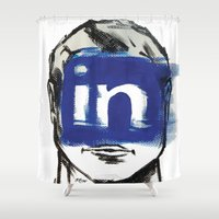 instagram Shower Curtains featuring O'Prime instagram by O'Prime