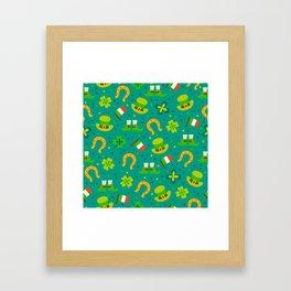 St Patrick's Day: Irish Luck Pattern Framed Art Print