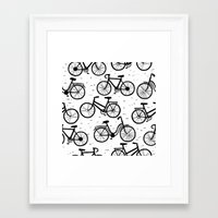 bikes Framed Art Prints featuring Bikes by sarknoem