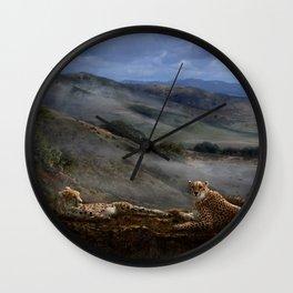 Cheetah Ridge Wall Clock