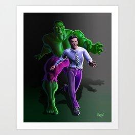 Bruce's Alter Ego Art Print