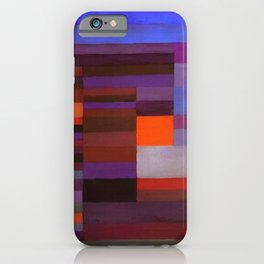 Paul Klee Fire In The Evening Colorful Abstract Art iPhone Case