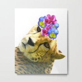 Cute Cheetah Portrait Metal Print