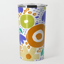 Bold Abstract Floral Inspired Pattern (Harvest Colors) Travel Mug