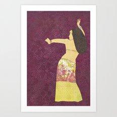 Belly dancer 2 Art Print