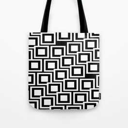 Black and White Squares Pattern 02 Tote Bag