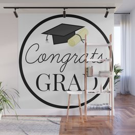 Congrats Grad - congratulations for Graduation Wall Mural