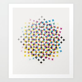 CMYK embroidery Art Print