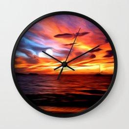 Honeymoon Sunset Wall Clock